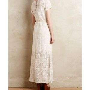 Anthropologie maxi lace dress